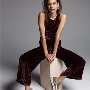 Madewell velvet twist front jumpsuit NWT size 8